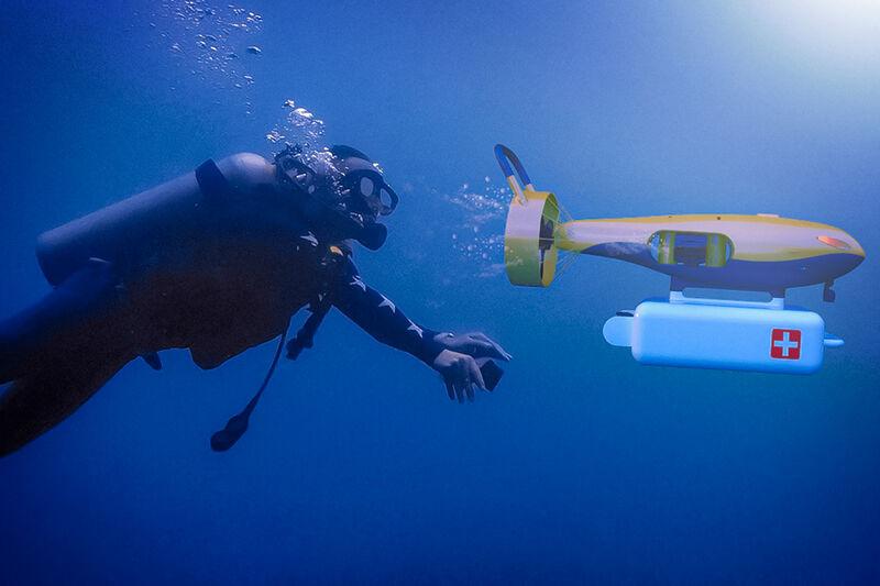 Underwater Emergency Drones