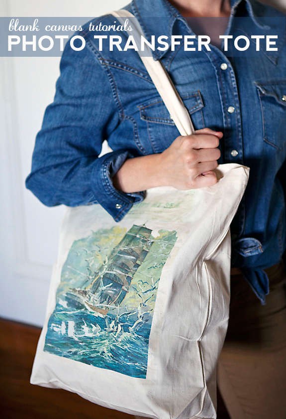 DIY Photo Transfer Totes