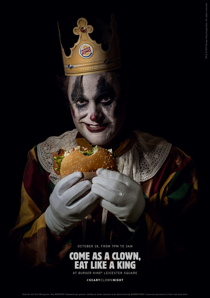 Creepy Clown Burger Campaigns