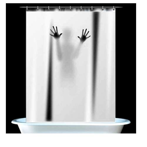 Psycho Shower Curtains Scary Curtain