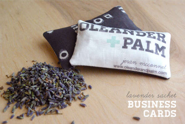 Lavender Scented Business Cards
