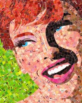 Portraits from Recycled Junk Mail