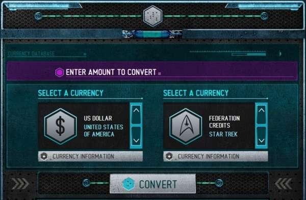 Trekkie Credit Calculators : sci-fi currency converter
