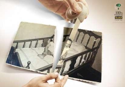 Picture-Repairing Adhesive Ads