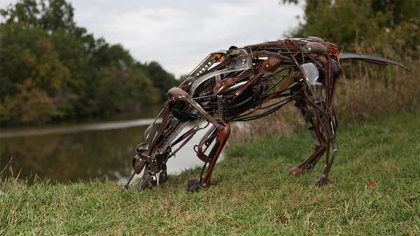 Household Trash Animal Sculptures