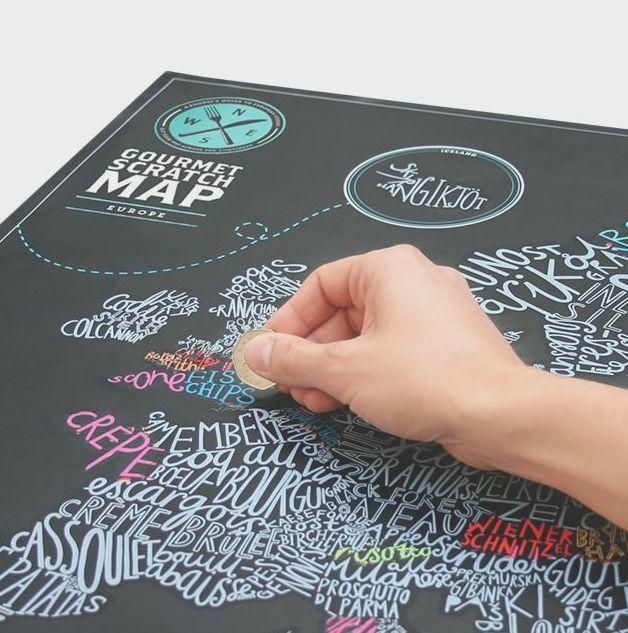 Scratch-Off Food Maps