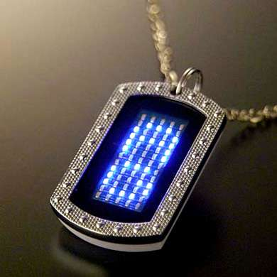Scrolling LED Dog Tag