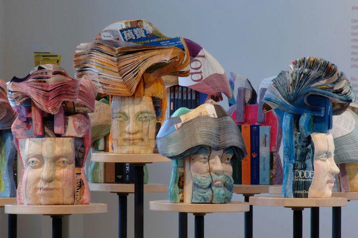 Sculptural Book Busts