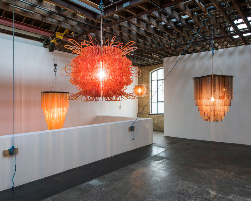 Luminous Sculptural Chandeliers