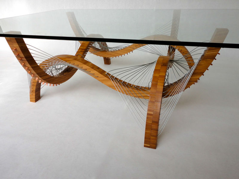 Undulating Bamboo Tables