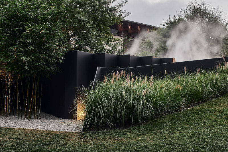 Contemporary Mist-Filled Pavilions