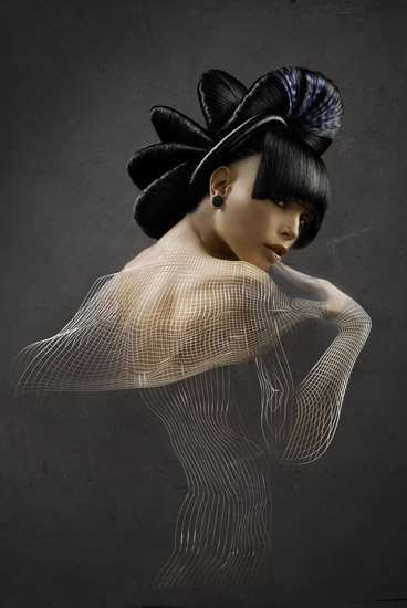 Sculptural Hairtography