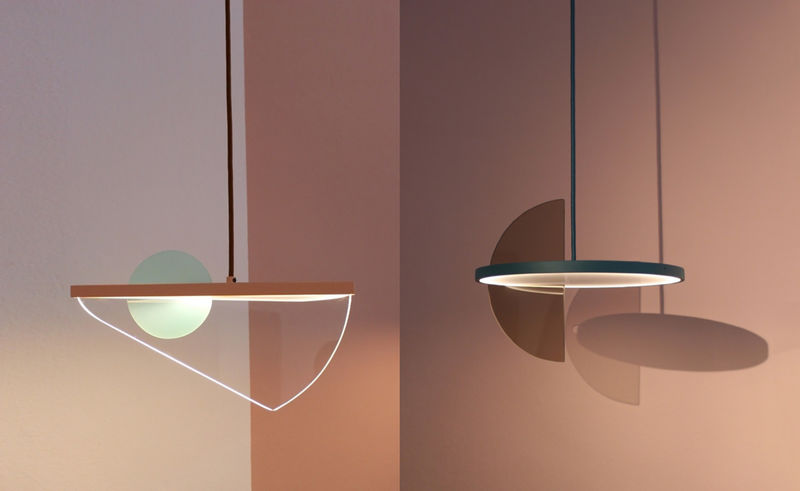 Balancing Sculptural Lamp Fixtures