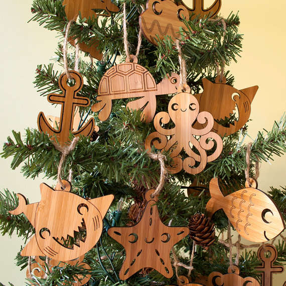 Cartoon Sea Creature Ornaments