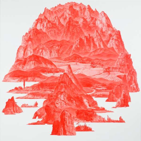 Fragmented Landscape Paintings