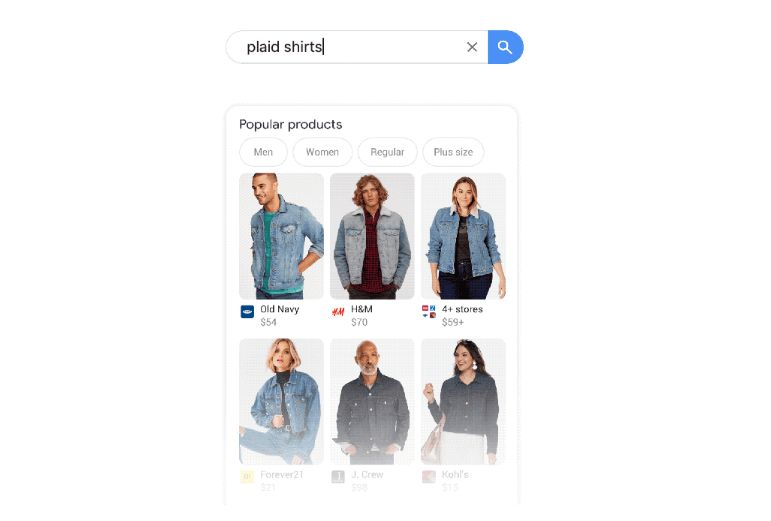 Shoppable Mobile Search Results