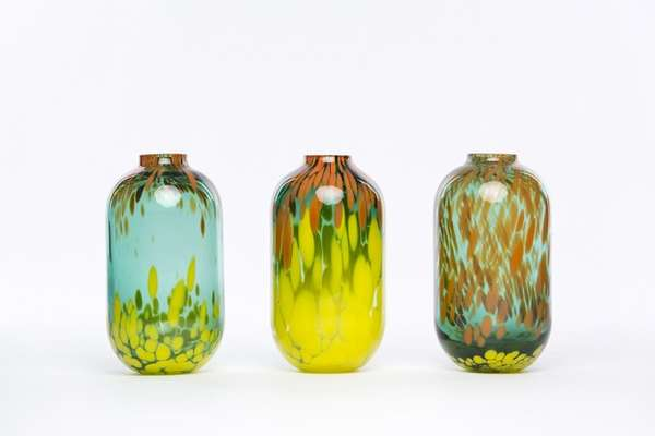 Delicately Marbled Glassware