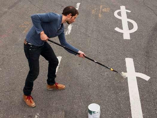 Dollar-Sign Street Art