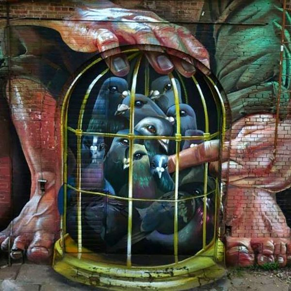 3D Spray Paint Murals