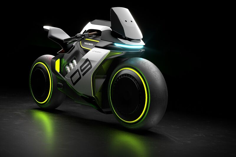 Futuristic Hydrogen-Powered Motorcycles