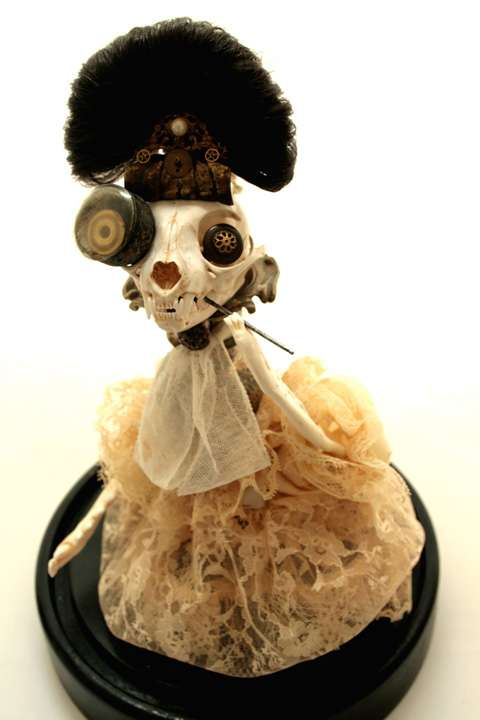 Collaged Victorian Dolls