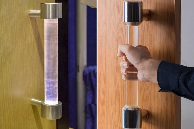 Self-Sanitizing Door Handles