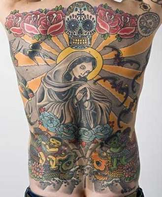 selling tattooed skin virgin mary tattoo on man 39 s back sells for 218 000. Black Bedroom Furniture Sets. Home Design Ideas