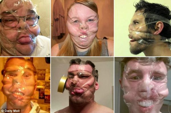 Deformed Taped-Up Selfies