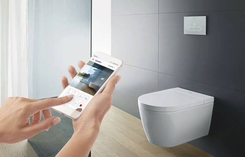 Minimalist Connected Bathroom Toilets