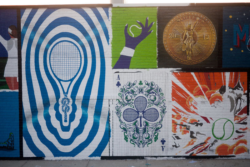 Tennis Star Tribute Murals