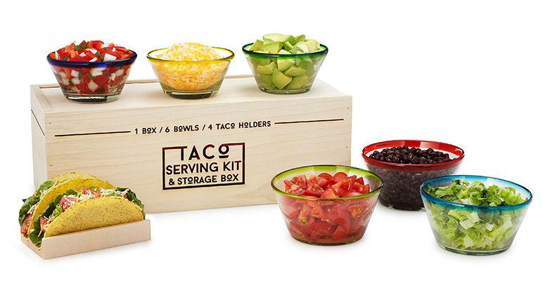 Taco Kitchen Kits : serving dishes
