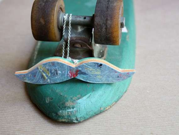 Recycled Skateboard Bling