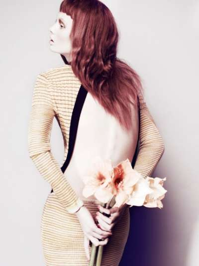 Subtle Flowered Fashion Editorials