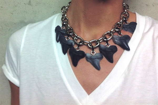 DIY Shark Tooth Necklaces