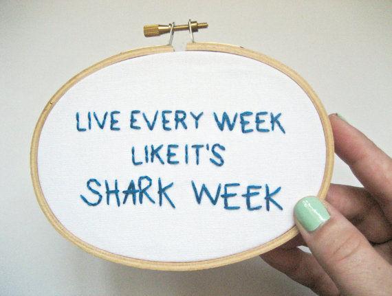 Inspirational Shark Week Emblems