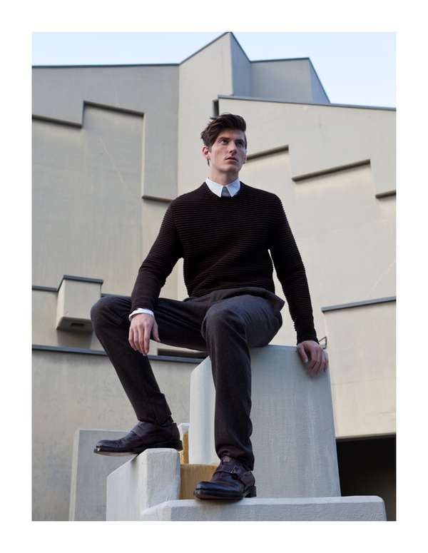 Geometric Menswear Editorials