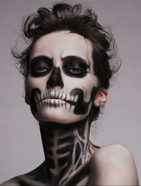 Sultry Skeletal-Faced Shoots