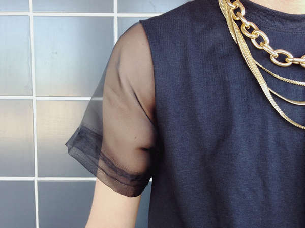 DIY Sheer Sleeve Shirts
