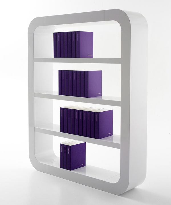 Minimalist Rounded Bookcases