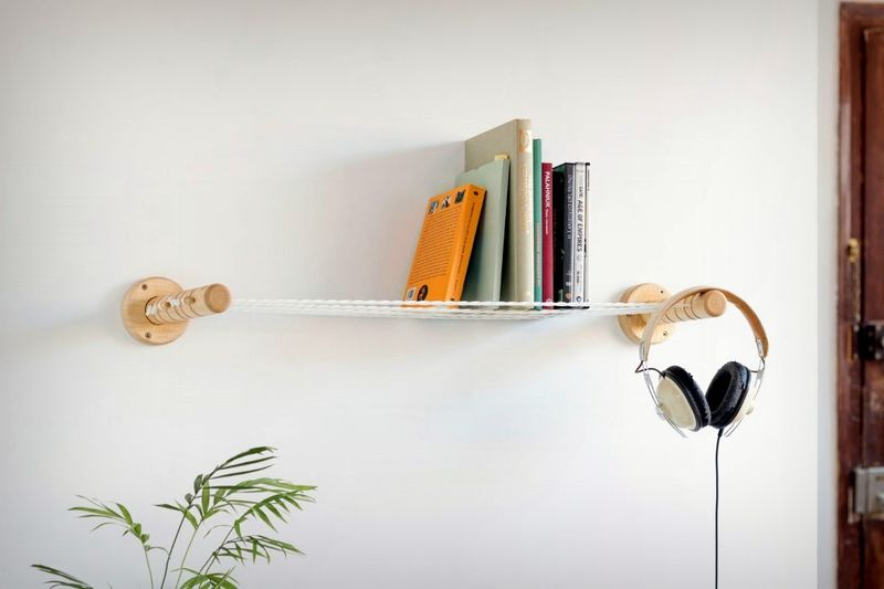 Suspended Rope Storage Shelves