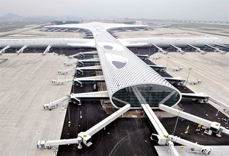 Futuristic Fish-Shaped Airports
