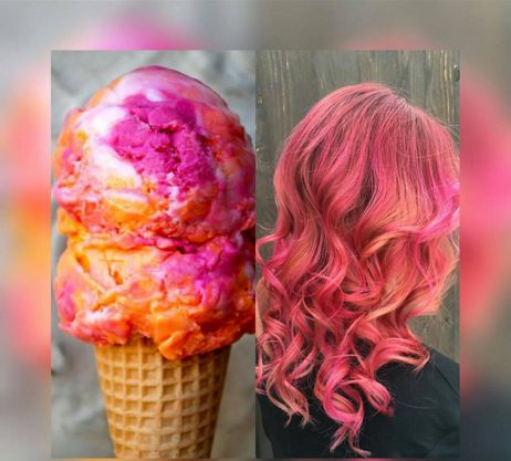 Vibrant Sherbet Hairstyles