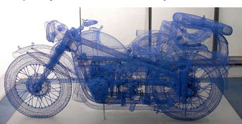 Wireframe Motorcycles