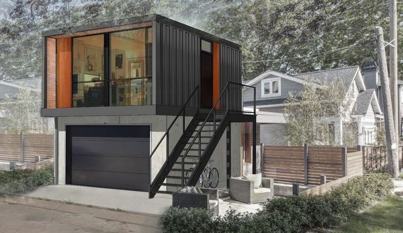 Chic Shipping Container Homes : shipping container living space