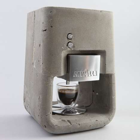 coffee machine is made from concrete