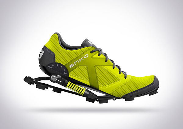 Shock-Absorbing Running Shoes : shock