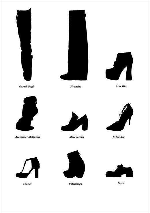 Chic Shoe Silhouettes
