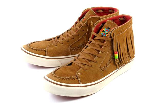 3e367ef083 Native American Skate Shoes  Vans SK8-Hi Fringe Pack Mashes Moccasin ...