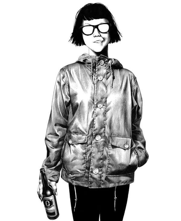 Dynamic Ballpoint Hipster Drawings