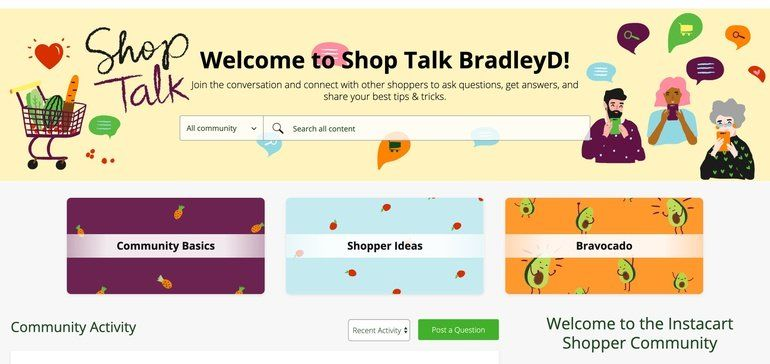 Online Grocery Shopping Communities
